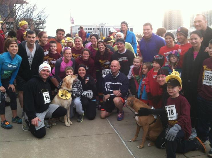 Great turnout for The 18th Annual Turkey Trot!  Nice job CFS/CFE!!